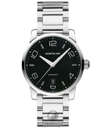 Montblanc Timewalker Automatic Black Dial Black Stainless Steel Men Watch 110339 3690